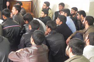 دیدار جمعی از طلاب شهرستان بم با آیت الله العظمی دوزدوزانی