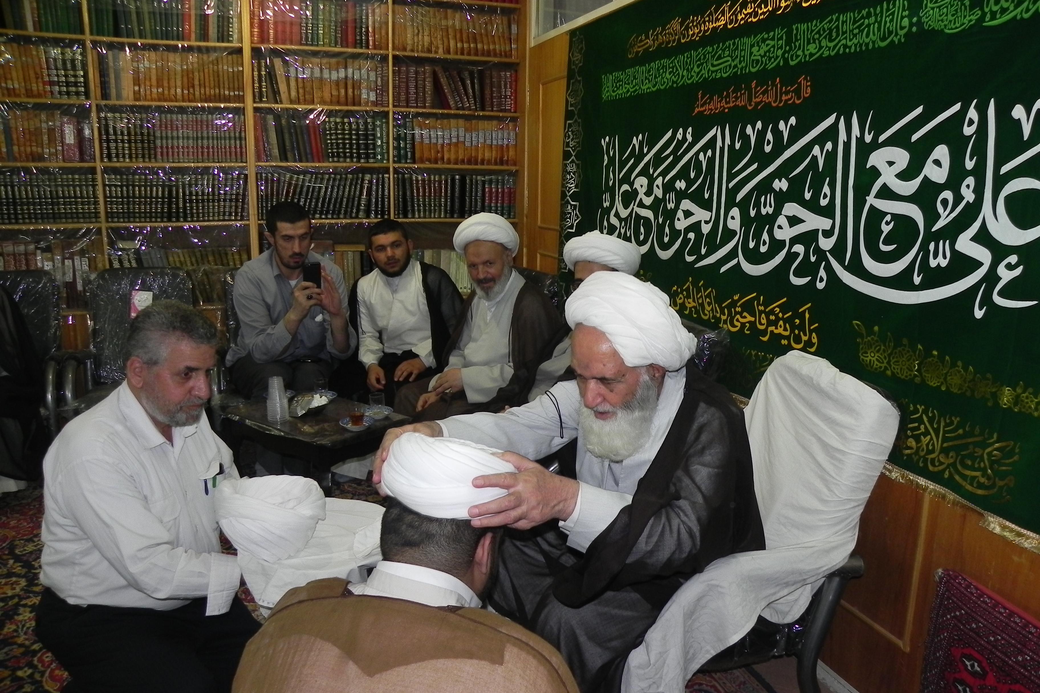 جشن سرور به مناسبت عید غدیر خم در بیت آیت الله العظمی دوزدوزانی تبریزی