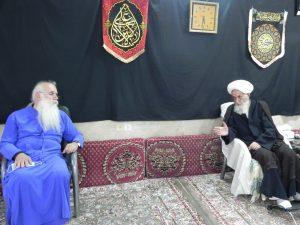 دیدار اسقف اعظم گرجستان با مرجع عالیقدر شیعه آیت الله العظمی دوزدوزانی تبریزی